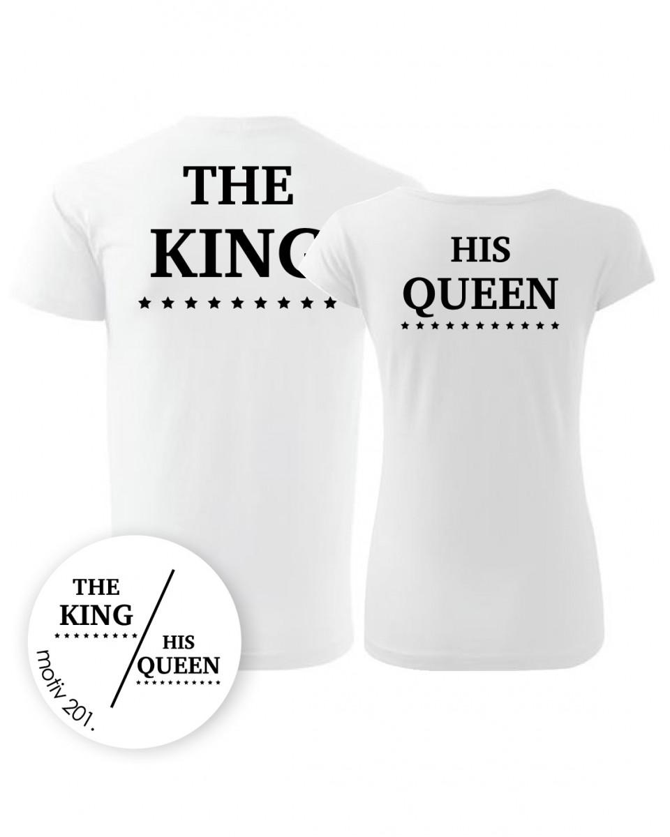 Trička pro páry King and Queen 201 bílé  dc0801d396